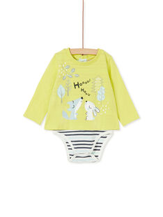 Lemon yellow BODY SUIT KUBOBOD / 20WG10N1BOD108