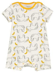 Baby boys' short sleepsuit FEGAGRERIN / 19SH14H2GRE099