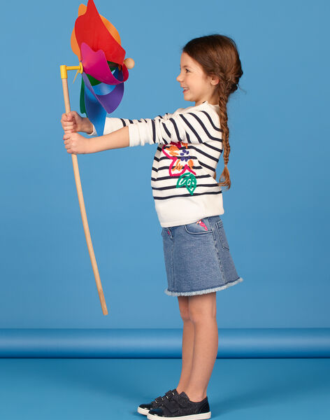 Short blue and pink denim skirt LANAUJUP1 / 21S901P1JUPP274