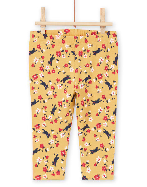 Baby Girl's Red and Yellow Floral Legging MYIMIXLEG / 21WI09J1CALB106
