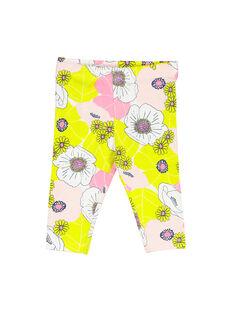 Baby girls' floral leggings FYIPOLEG / 19SI09C1CAL099