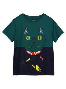 Boys' printed short-sleeved T-shirt GOVETI2 / 19W90221TMCG614