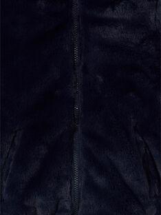 Reversible blue hooded jacket with fancy print LAFOUDOUNE / 21S901R1D3E070