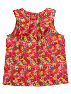 Girls' floral frilly smock FAYECHEM / 19S901M1CHE099