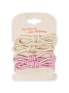 Lot of 2 Christmas scrunchies child girl MYANOELA3 / 21WI01T5ELAK008