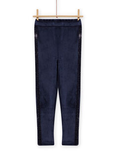 Child girl navy blue furry legging MAJOLEG5 / 21W901N7PAN070