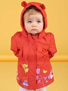 Hooded raincoat red baby girl LIHAIMP / 21SG09R1IMP505