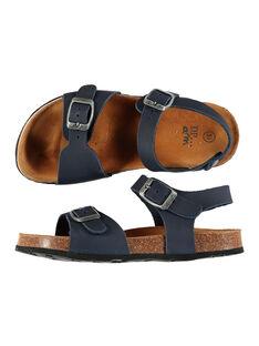 Boys' smart leather sandals FGNUBOUCL / 19SK36D5D0EC218