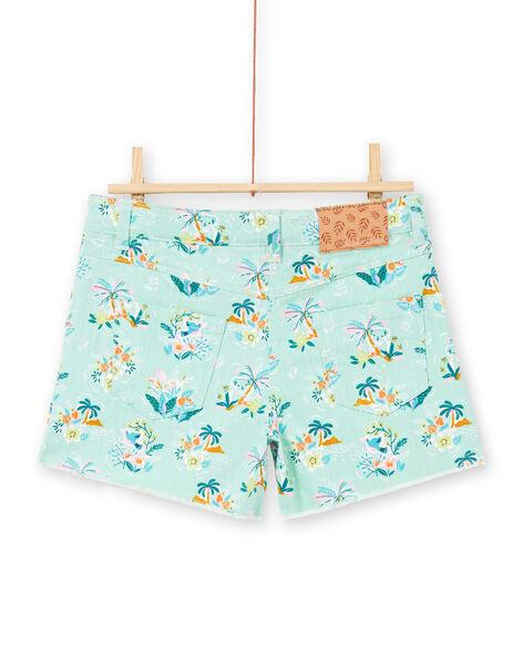 Baby boy koala, flower and palm tree printed shorts LAVERSHORT3 / 21S901Q3SHOG621