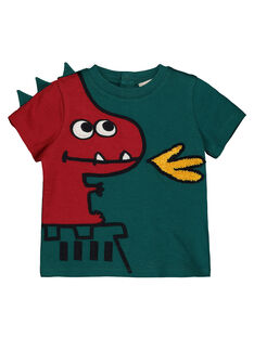 Boys' printed short-sleeved T-shirt GUVETEEEX / 19WG1021TMC608