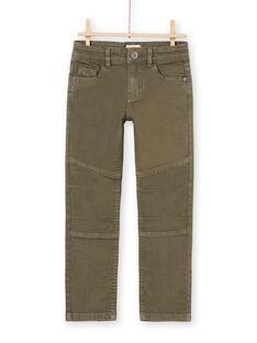 Boy's plain khaki pants MOKAPAN / 21W902I1PAN628