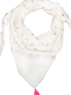 Girls' printed scarf FYAPOFOUL / 19SI01C1FOU099