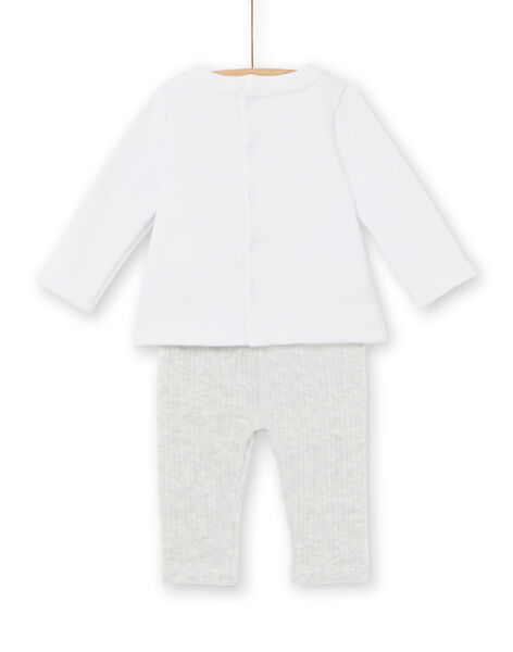 Warm and cozy lined top and mixed birth corduroy leggings and leggings LOU1ENS5 / 21SF04H2ENS000