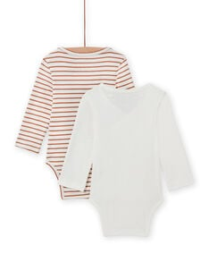 Mixed birth 2 long sleeved double-breasted bodysuit with hedgehog design MOU2BOD2 / 21WF04D1BOD001