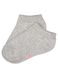 Girls' plain socks FYAJOCHO10A / 19SI01G7SOQ943
