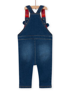Baby boy's medium denim overalls with teddy bear print MUFUNSAL2 / 21WG10M1SALP274