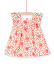 Baby girl skater dress with floral print LINAUROB1 / 21SG09L2ROB001