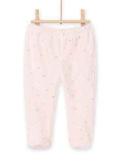 Baby girl two-tone Christmas velvet pajama set MEFIPYJNO / 21WH13F1PYJD329