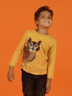 Baby Boy Yellow T-Shirt MOSAUTEE1 / 21W902P3TMLB107