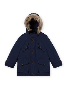 Child boy navy blue 3-in-1 hooded parka MOGROPAR3 / 21W90261PAR705