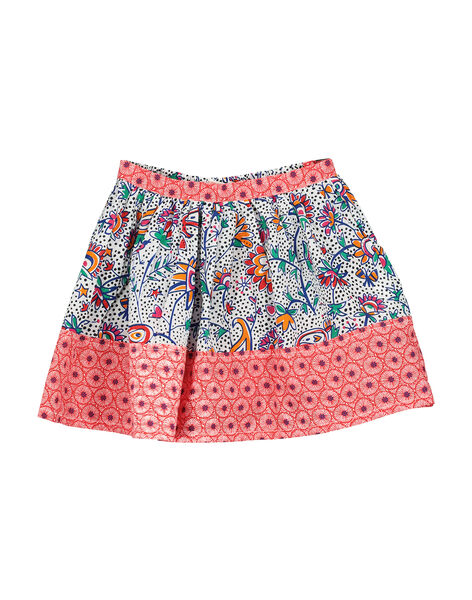 Girls' fancy cotton skirt FATOJUP1 / 19S901L1JUP099