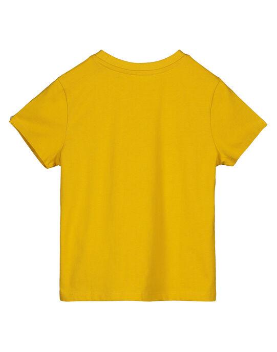 Boys' yellow skateboard print T-shirt GOBLETEE2EX2 / 19W90293TMC109
