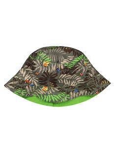 Boys' tropical print hat FYOYEBOB / 19SI02M1CHA626