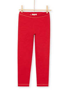 Girl's Red Legging with Gold Details MYAJOLEG1 / 21WI0113CAL511