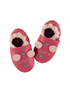 Baby girl's leather slippers. FNFSOU / 19SK3737D3S304