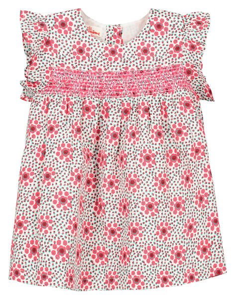 Baby girls' smocked dress FICAROB5 / 19SG09D5ROB000