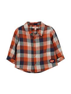 Baby boys' checked shirt FUBACHEM / 19SG1061CHM099