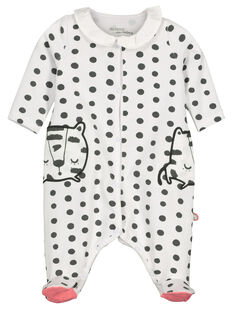 Baby girls' cotton sleepsuit FOU2GRE3 / 19SF05J2GRE099