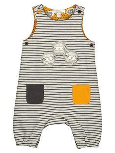 Unisex babies' striped and printed dungarees GOU1SAL / 19WF0511SALJ922