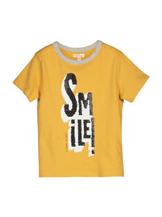 Boys' short-sleeved T-shirt FOLITI1 / 19S90221TMCB107