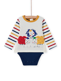 Baby boy's multicolored sheep T-shirt MUMIXBOD2 / 21WG10J1BOD001
