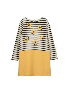 Girls' two-tone fleece dress FALIROB2 / 19S90122ROB001