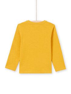 Boy's yellow T-shirt MOJOTUN2 / 21W90213TML113