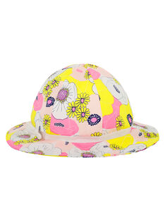 Girls' printed hat FYAPOHAT1 / 19SI01C1CHA099
