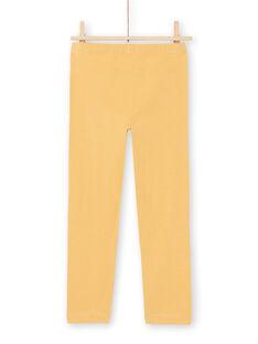 Girl's yellow legging MYAJOLEG2 / 21WI0112CALB106