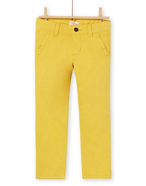 Chino yellow cotton boy child LOJOPACHI1 / 21S90231PAN102