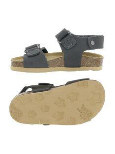 Baby boys' leather sandals CBGNUVEL2 / 18SK38W9D0E940
