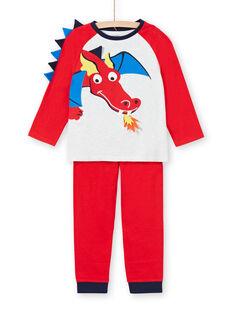 Boy's red jersey pajamas with dragon motif LEGOPYJDRA / 21SH1254PYJ502