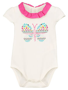 Baby girls' printed bodysuit FITOBOD / 19SG09L1BOD000