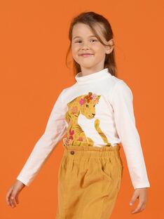 Girl's leopard print and flower ecru underpants MASAUSOUP / 21W901P1SPL001