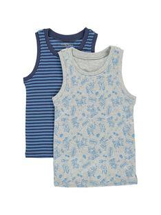 Pack of boys' vests CEGODELSKA / 18SH12T2HLIJ908