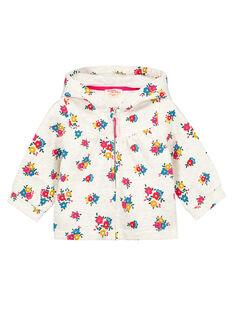 Baby girls' hooded cardigan GIMUHOJOG / 19WG09F2CAR006