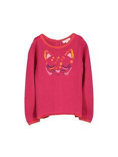 Girls' double-sided cardigan FABAPULL1 / 19S90161PUL304