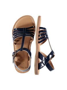 Girls' smart patent leather sandals FFSANDOLI5 / 19SK35CAD0E070