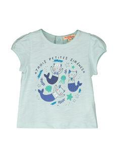 Baby girls' short-sleeved T-shirt FINETI / 19SG09B1TMCC216