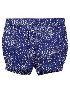 Baby girls' printed cotton shorts FINESHO / 19SG09B1SHO703